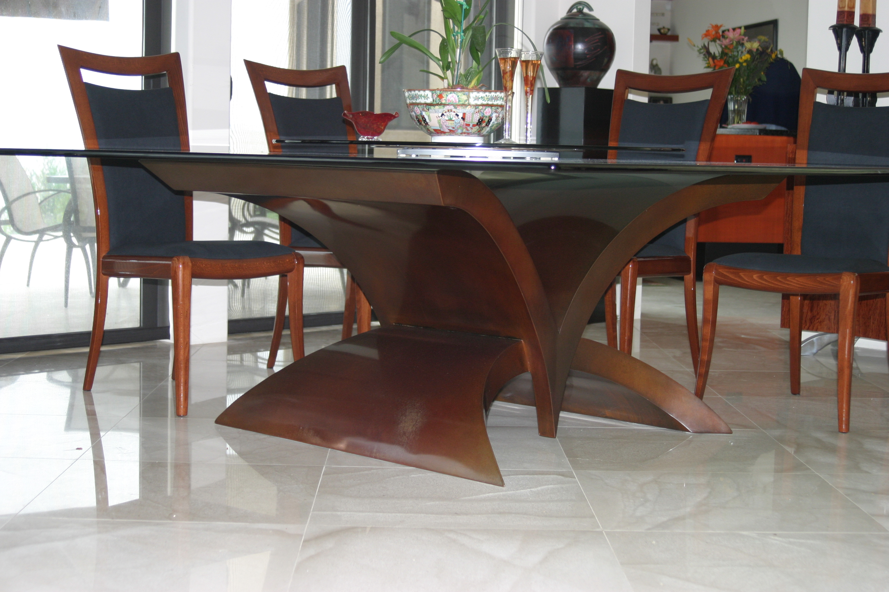 Marvelous Sophia II Contemporary Dining Room Base Part 12